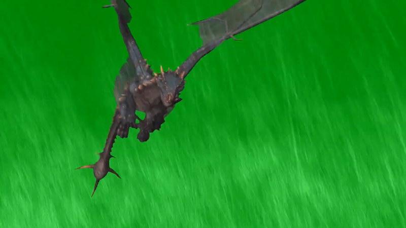 绿屏抠像飞翔的龙