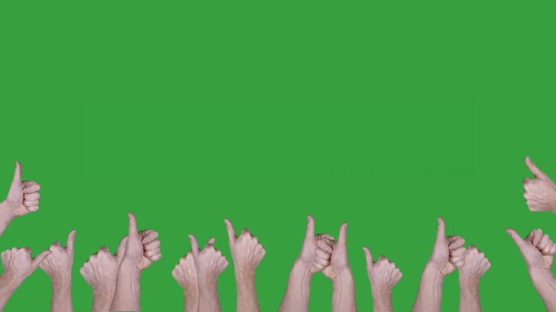 绿屏抠像伸拇指手势