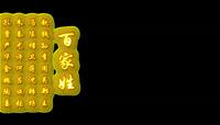 复古牛皮纸传统文化百家姓背景视频