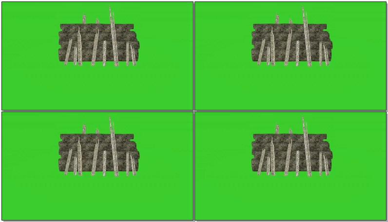 绿屏抠像劈柴木材堆
