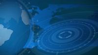 无缝循环蓝色科技新闻背景视频