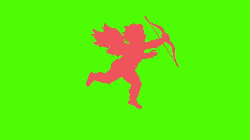 绿屏抠像丘比特剪影
