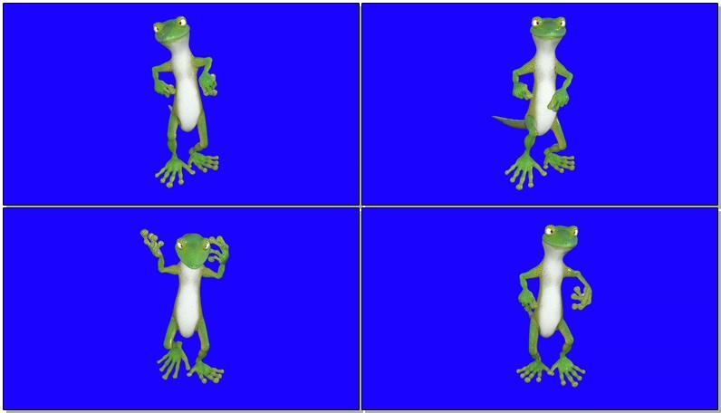 绿屏抠像跳舞的青蛙