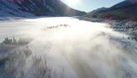 冬季喀纳斯雪乡美景航拍