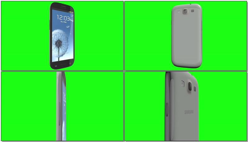\[4K\]绿屏抠像三星智能手机