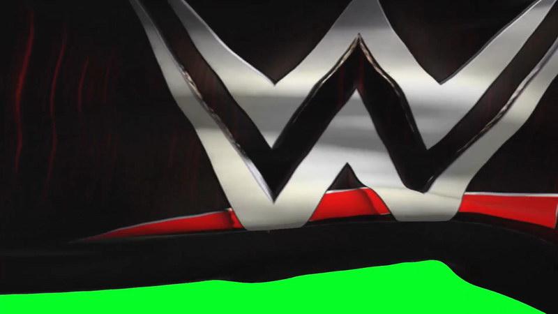 绿屏抠像世界摔角旗帜