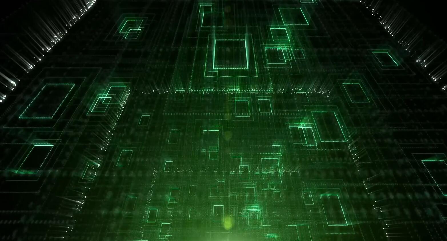 绿色的网格