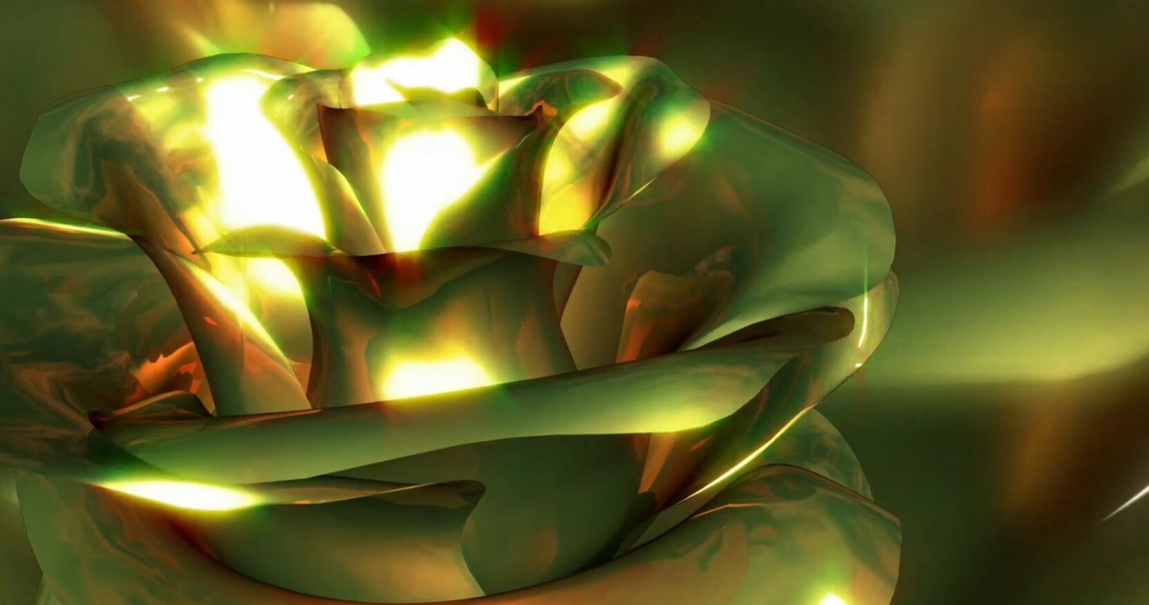 旋转的金色花朵