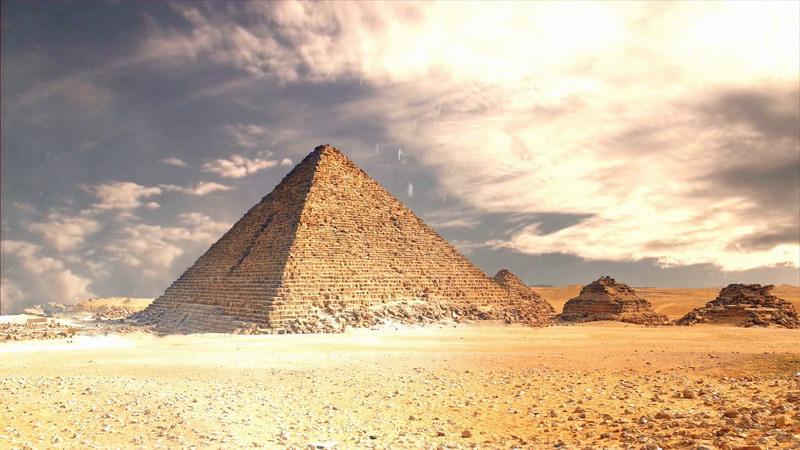 延时摄影埃及金字塔