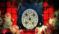 唯美牡丹中国风意境 中秋节LED大屏幕舞台背景视频素材