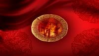 羊年喜庆背景中国风之祥龙祈福