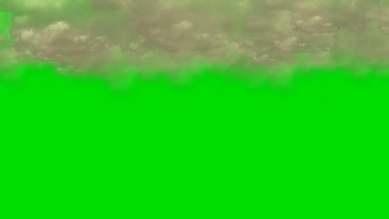 绿屏抠像天空乌云