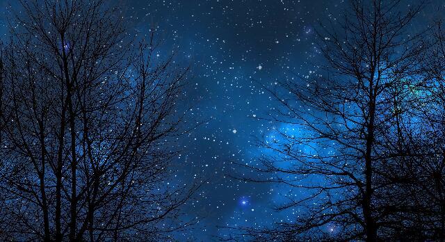 夜空星空延迟摄影