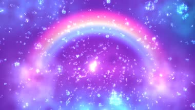 唯美彩虹气泡背景视频素材
