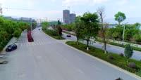 2K高清实拍城市道路路政建设视频素材