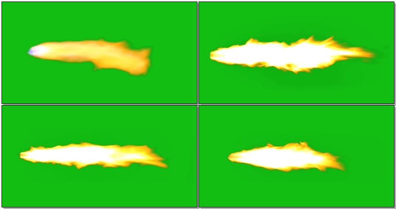 绿屏抠像火箭尾部火焰