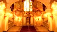 教堂双心汇聚婚礼led视频