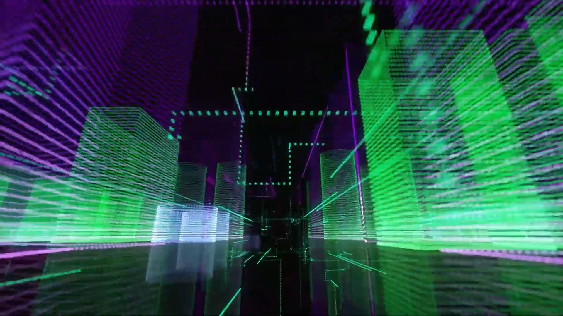 Fadedj舞台背景led夜店vj流行科技感穿梭高清视频素材