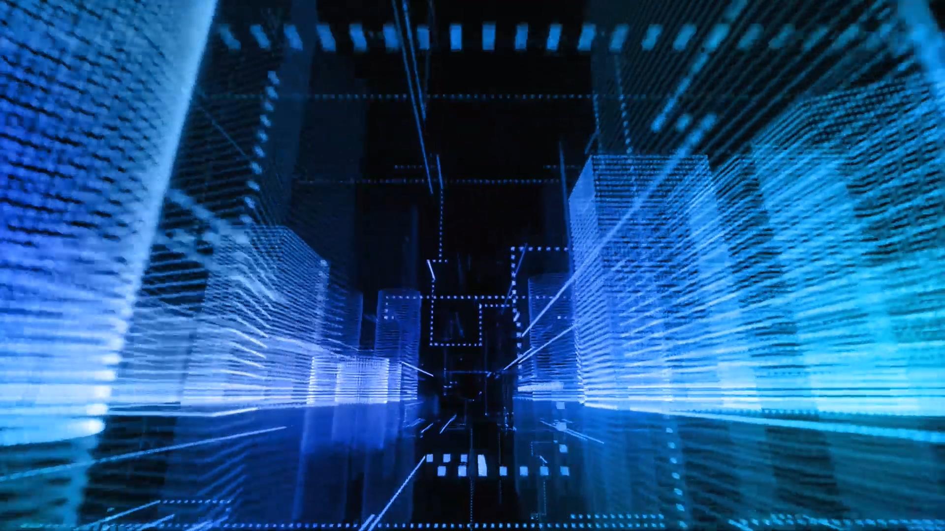 光影光线科技线条城市街道穿梭黄渤《最好的舞台》