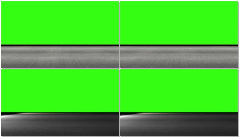 绿屏抠像公路行驶视觉