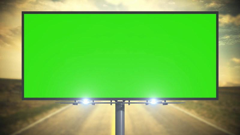 绿屏抠像大型广告牌