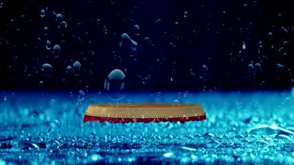 大气开场水鼓舞花海年会中国风舞台背景视频素材
