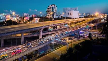 曼谷泰国东南亚大皇宫湄南河景观实拍视频素材