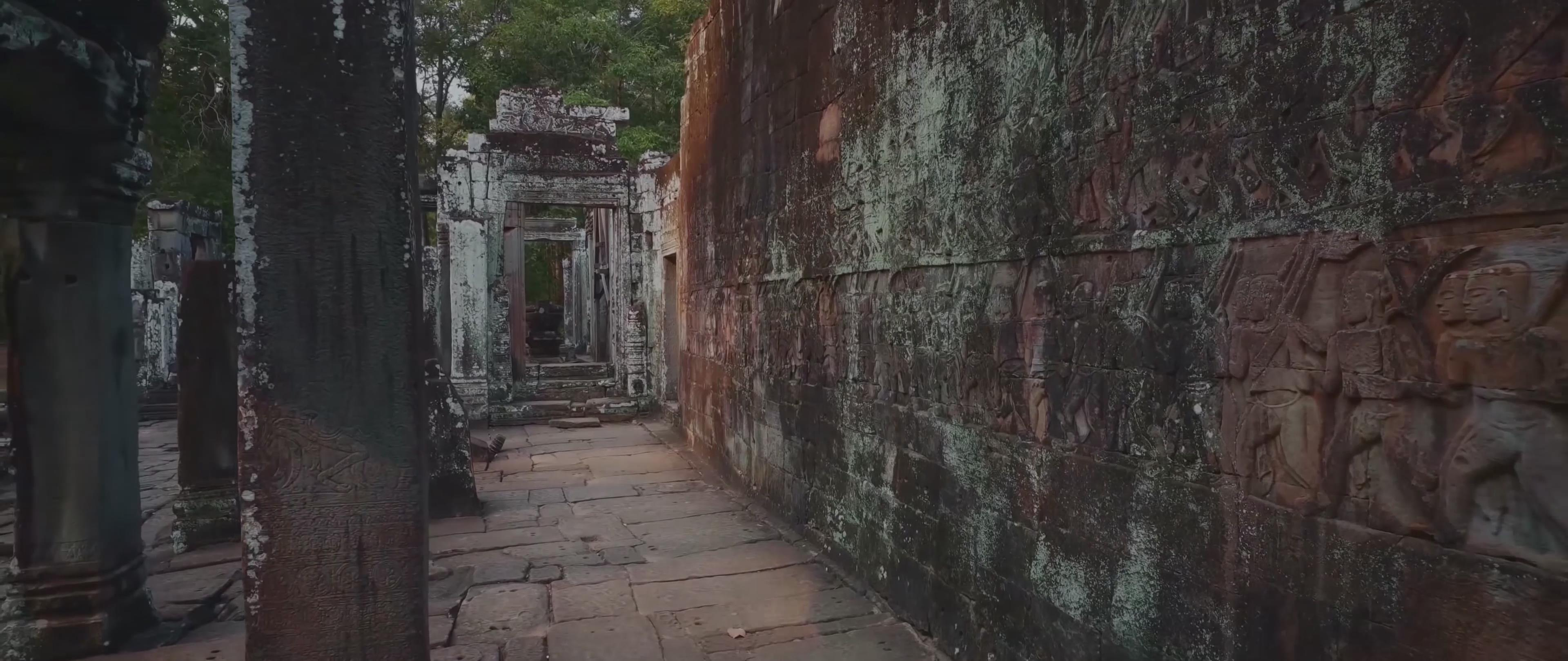 水牛 荷花 佛 雕像 雕塑 浮雕 鳄鱼 船 河流 猴子 瀑布 僧人 和尚 寺庙 泰国 神庙 延时 4k