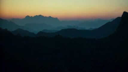 村庄乡村乡村农村唯美夜景实拍视频素材