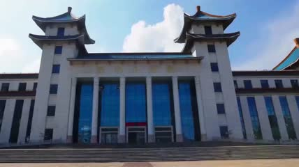 安徽滁州地标建筑市容远景延时实拍视频素材