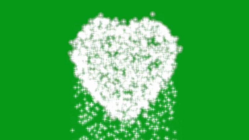 绿屏抠像闪烁爱心星光