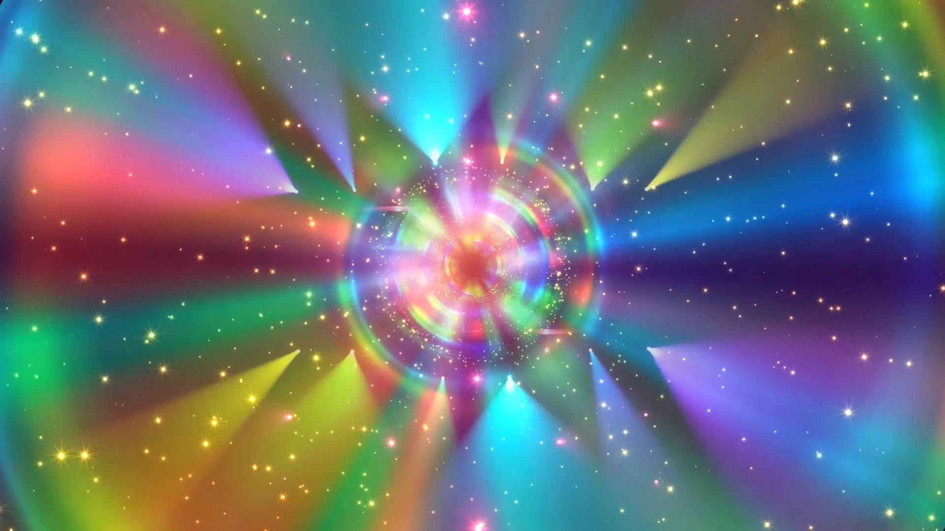 七彩梦绚丽七彩光环光效