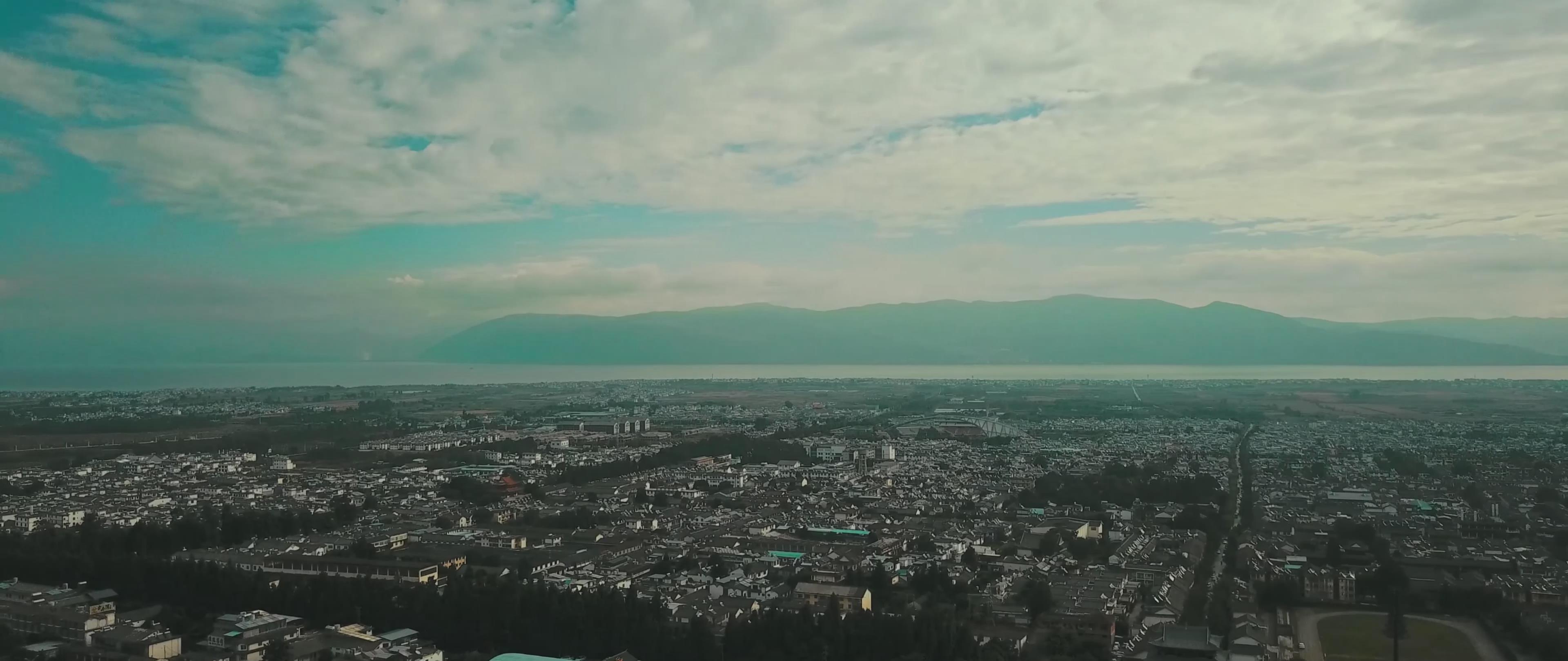 云南 大理 全景 航拍 4k