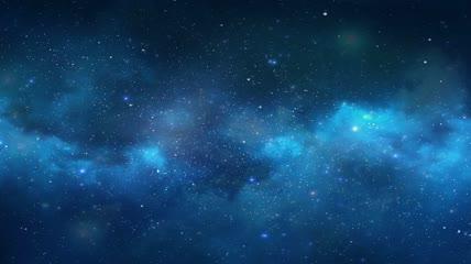 唯美蓝色星空宇宙大屏无缝循环背景视频素材