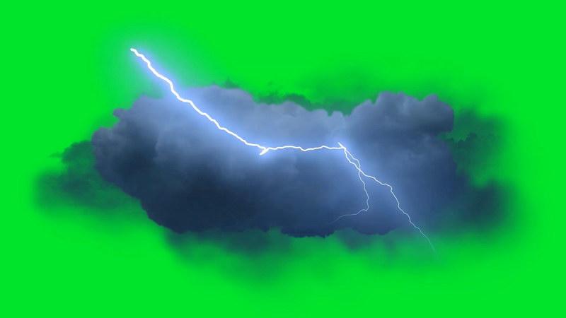 绿屏抠像闪电积雨云层