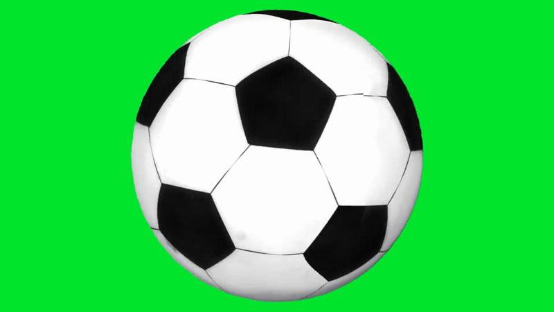 绿屏抠像旋转的足球