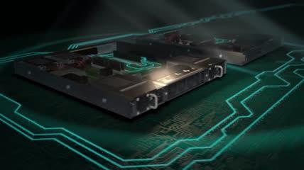 互联网科技连线网络交换机数字云计算实拍视频素材
