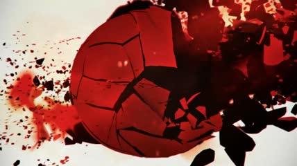 日本国旗建筑剪影灾难cg艺术动态背景视频素材