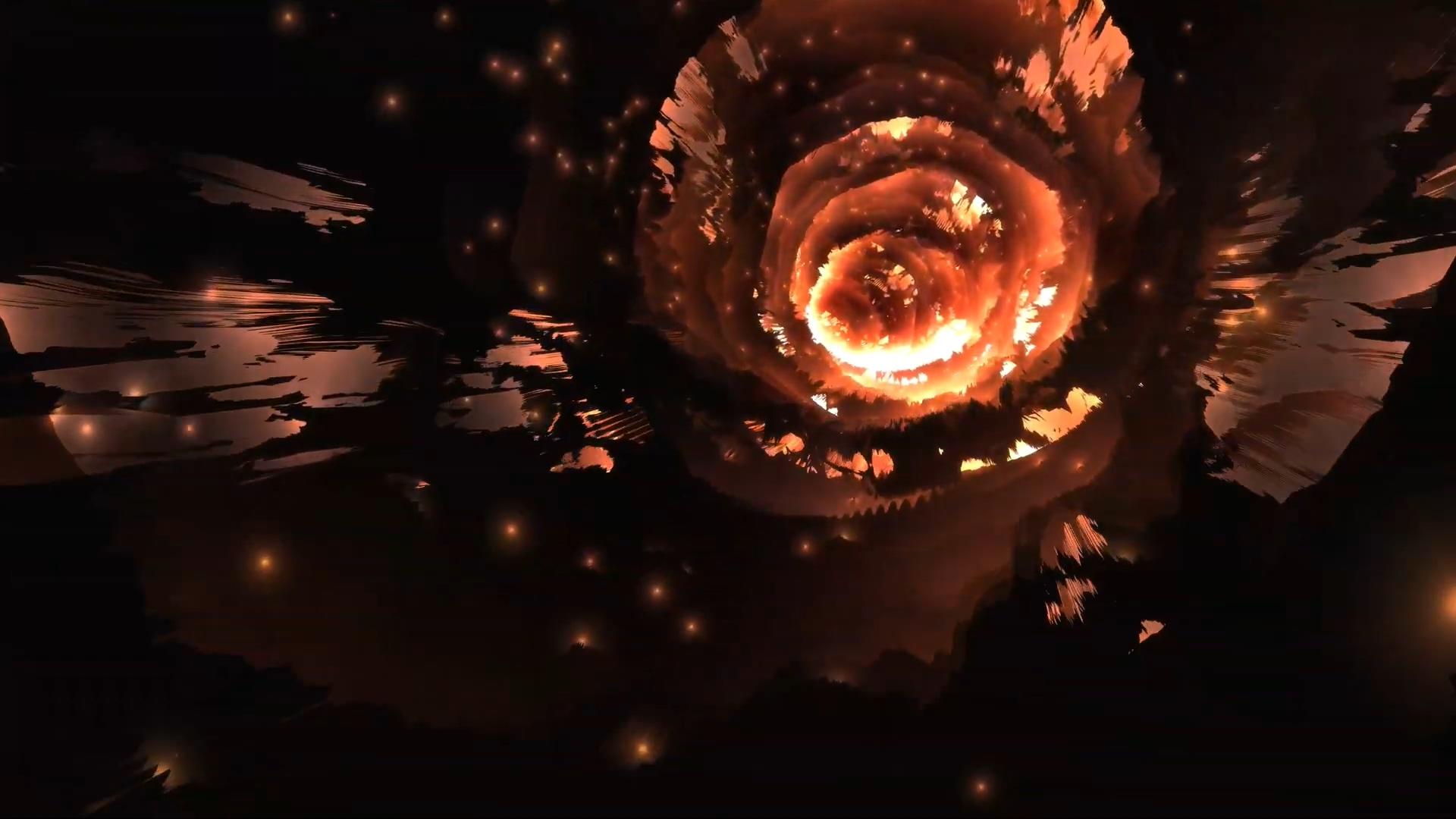 火洞虫洞穿梭VJ酒吧夜店舞台背景