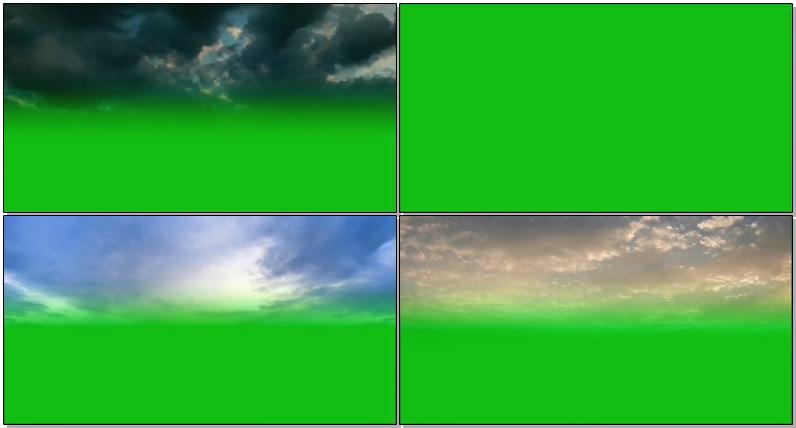 绿屏抠像各种云层
