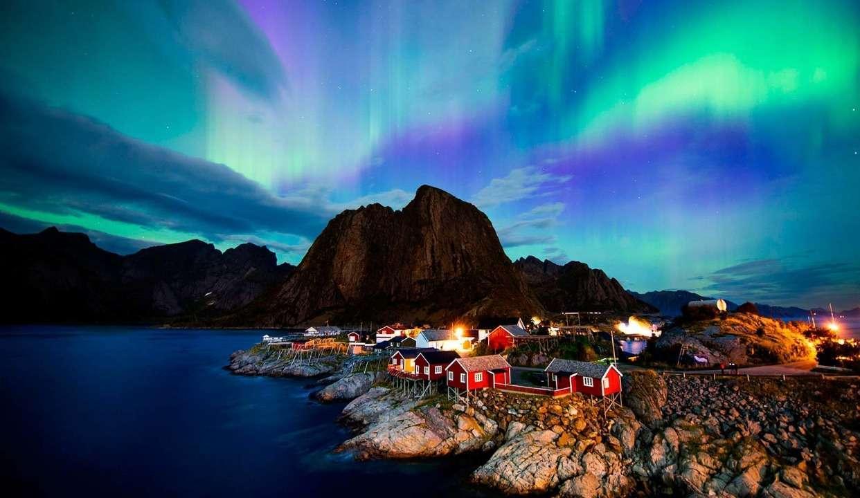 仙境挪威,这里的天空是彩色的