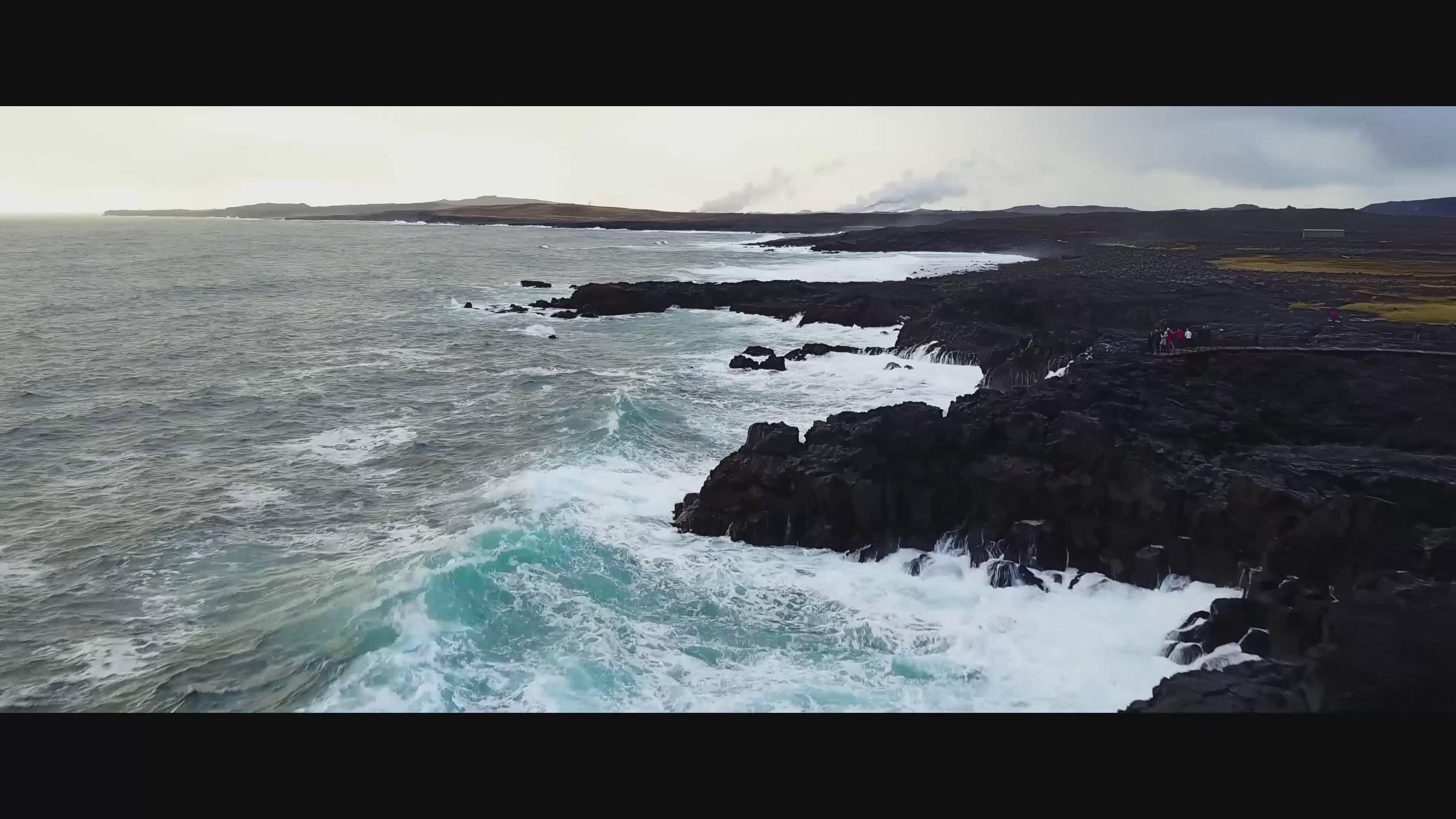 冰岛 4K 火冰之地 山川 大瀑布 草原 大海 海浪 海岛  礁石 海浪冲击礁石 雪山 冰山 海底火山 火山 小溪 冰 火山湖 极光 4k 唯美 超帅\-