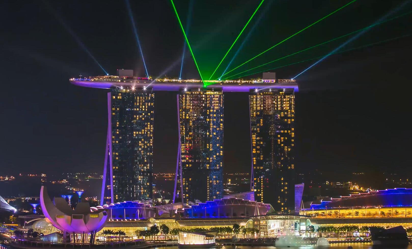 最新4K大气航拍上海夜景