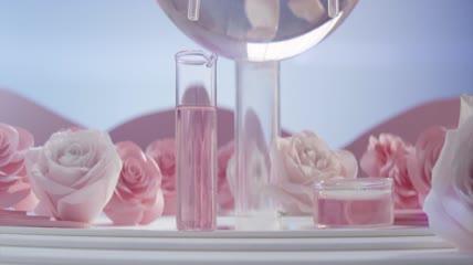 大气玫瑰花精华提取化妆品广告宣传实拍视频素材