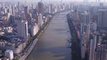 4K广州老城区珠江中国景观航拍视频素材