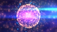 4K紫色唯美粒子LED舞台背景视频素材