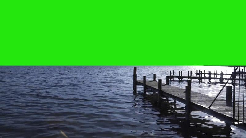 绿屏抠像海港码头