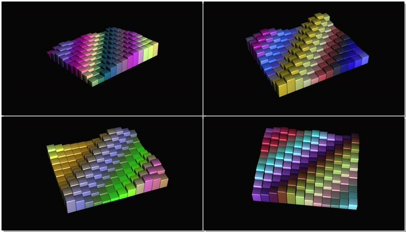 跳动的彩色条形阵列