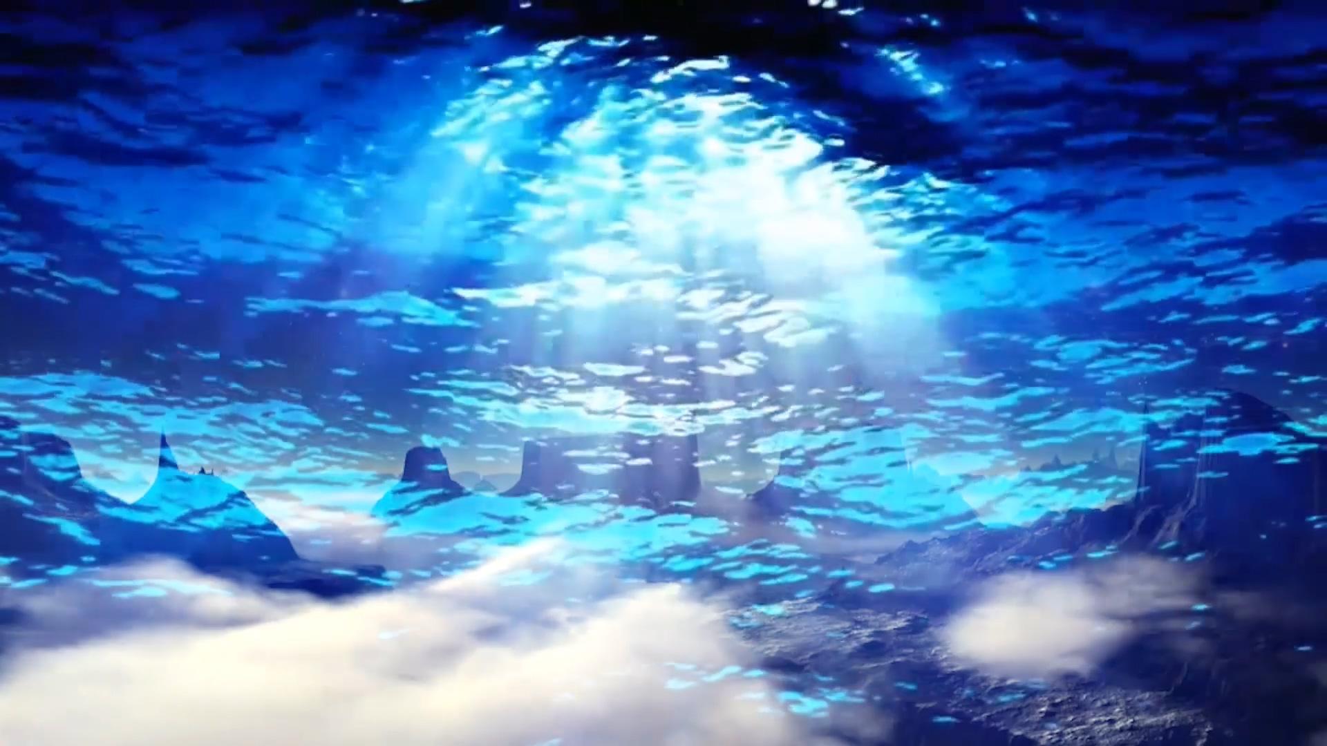 云层穿梭光线光效 花朵敢问路在何方海底背景