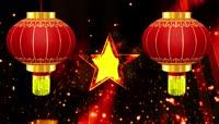五角星中国心 红灯笼